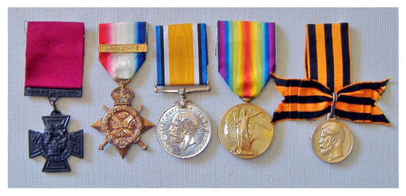 Private Robert Morrow V.C.'s medals