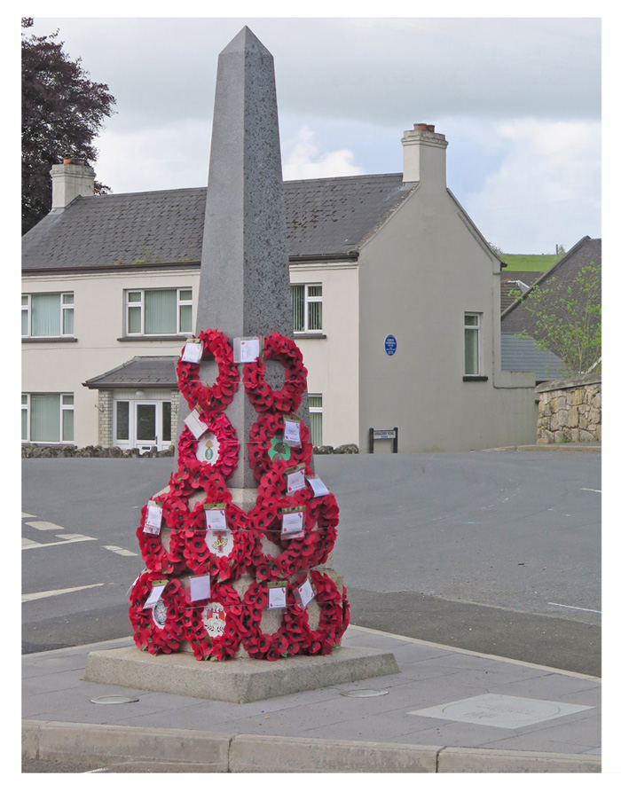 The Memorial to Private Robert Morrow VC in Newmills Village