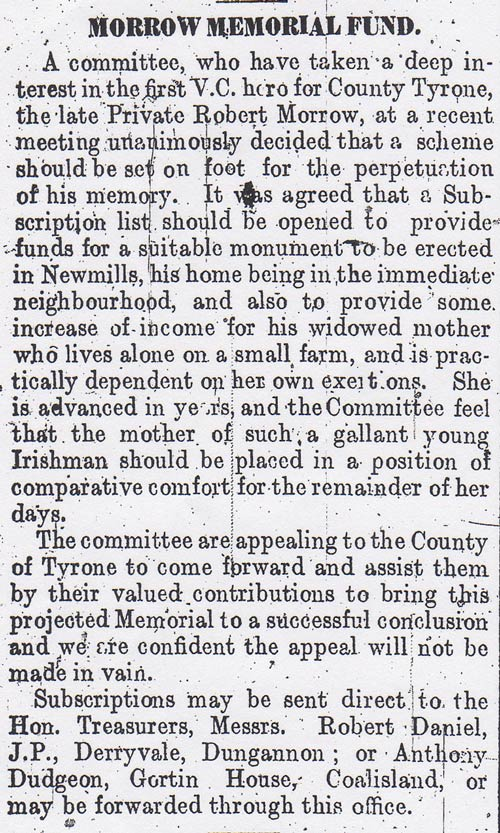 Tyrone Courier dated 20th January 1916