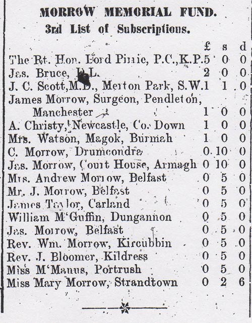 Tyrone Courier dated 16th March 1916